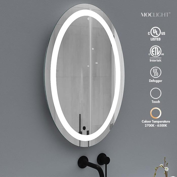 Frameless Oval bathroom wall vanity mirror Factory