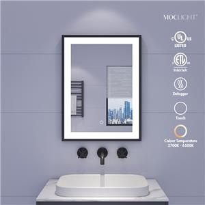 espejo de baño con marco negro