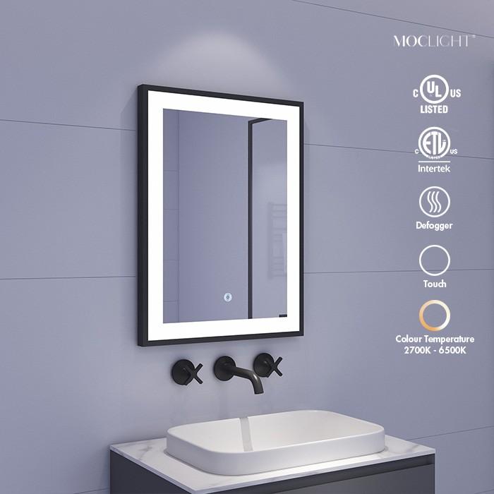 black framed bathroom mirror Factory