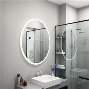 Espejo de ducha de baño LED antiniebla
