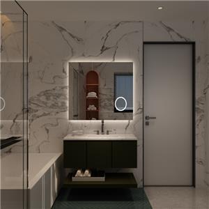 Espejo de baño con retroiluminación LED y lupa 3X