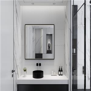espejo de baño LED con marco de aluminio