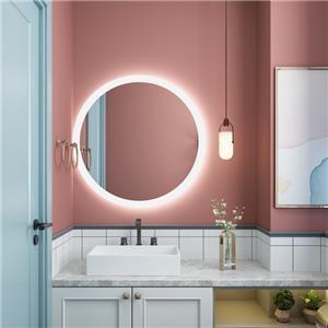 espejo iluminado de pared