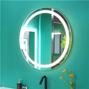 Round Wall Hanging Mirror with LED light