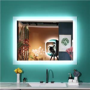 Vægmonteret Hotel LED -belyst badeværelsesspejl
