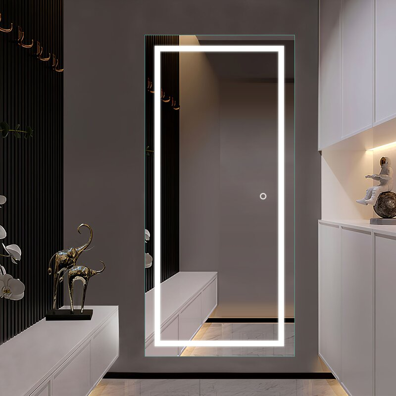 Luxury Full length Touch Screen beauty salon Mirror with LED lights Factory