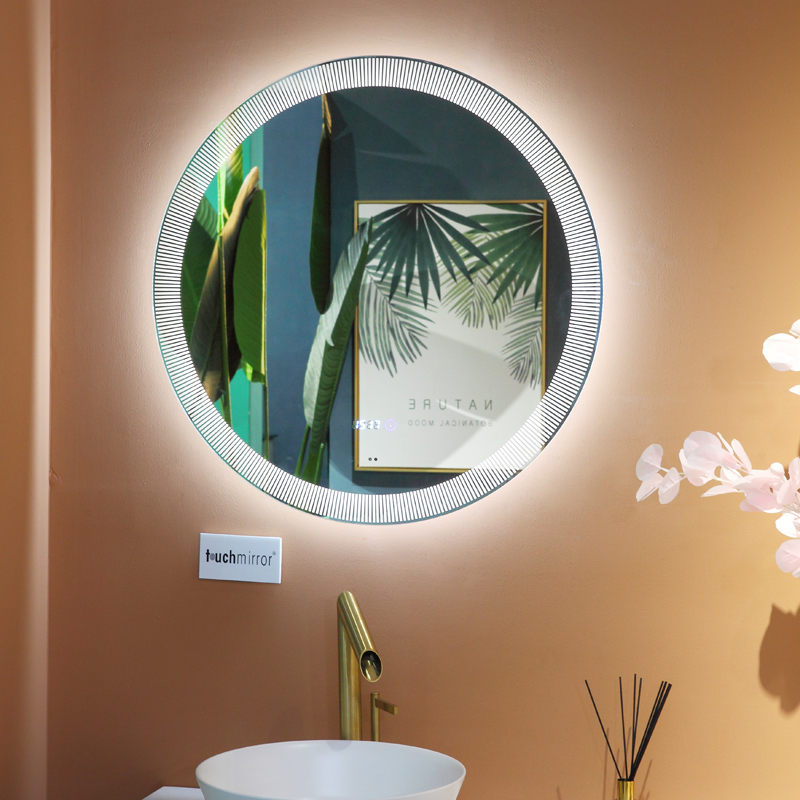 Dimmable Anti fog LED Bathroom Shower Mirror with special frost Factory