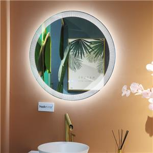 Dimmable Anti fog LED Bathroom Shower Mirror with special frost