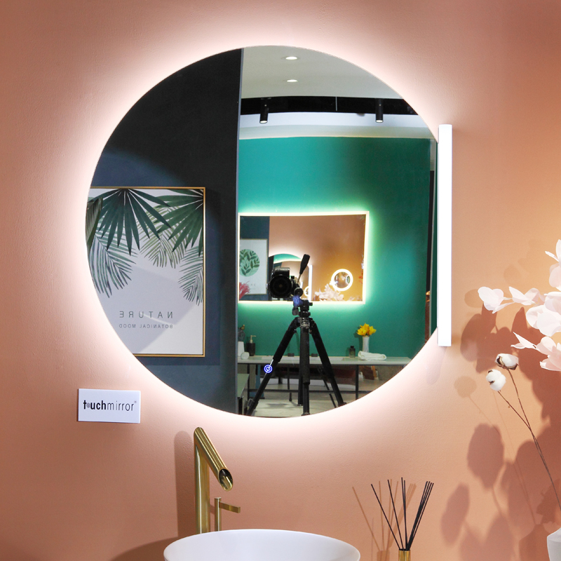 Touch Screen Fog Free Shower Mirror With Heated Pads Factory