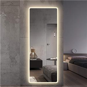 LED Dimmable Frameless Lighted Full Length Salon Mirror