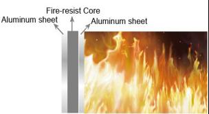 painel compósito de plástico de alumínio