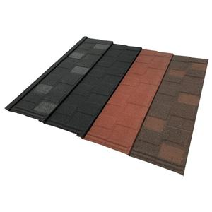 Shingle Type Stone Chip Coated Terracotta Metal Roof Tile