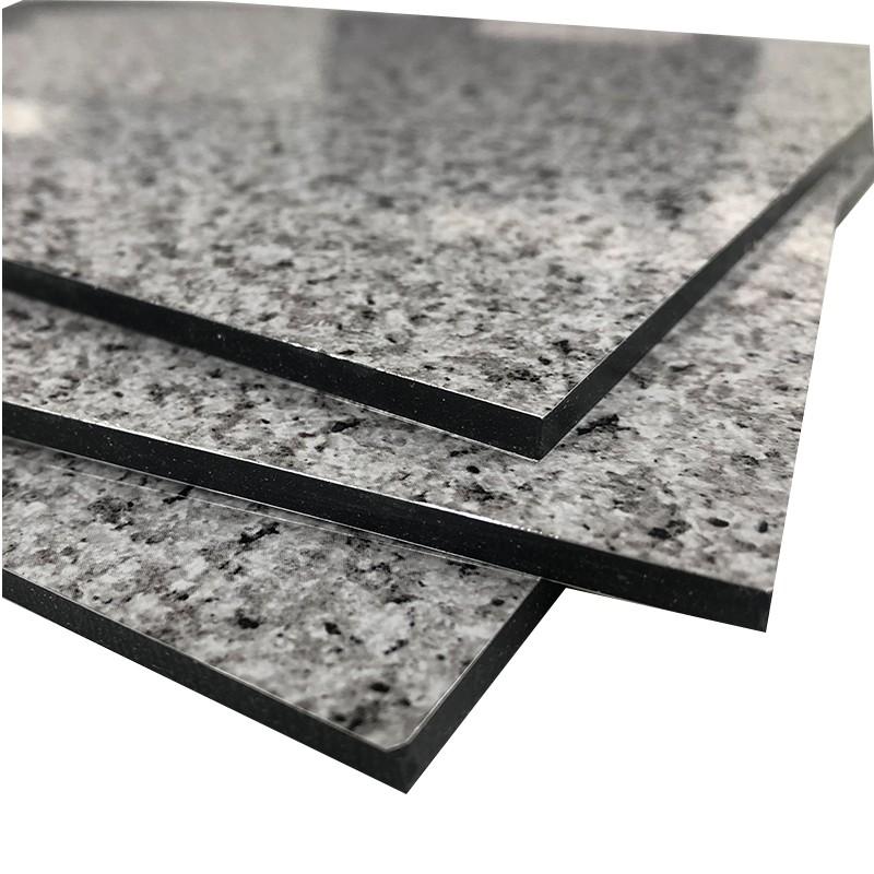 Panneau composé en aluminium de marbre de revêtement de mur intérieur