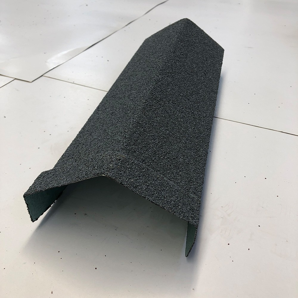 Stone Chips Coated Steel Roof Tile Angle Ridge
