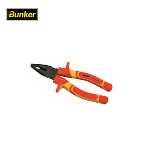 Bunker tools VDE combination pliers with insulated handle