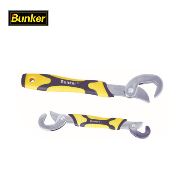2PCS adjustable Universal Wrench Ratchet Spanner