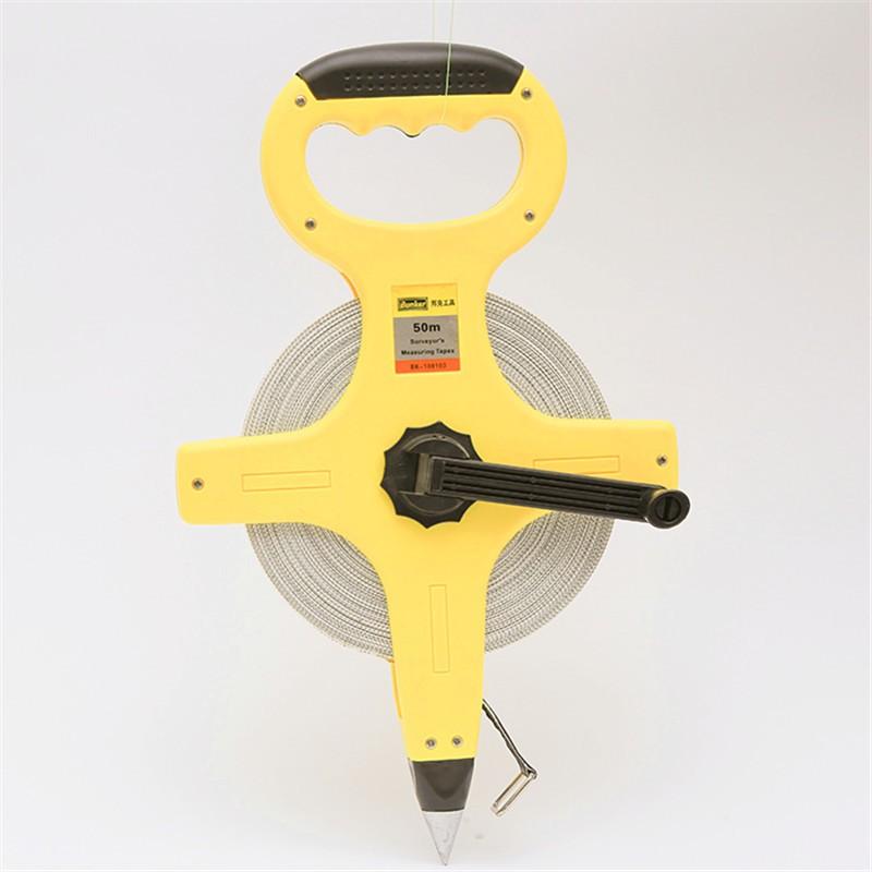 Портативна вимірювальна стрічка з ПВХ 30м -100м з пластиковою рамою