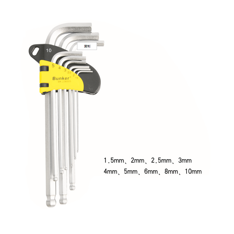 9 PCS Cr-v mahabang uri Extractor hex key