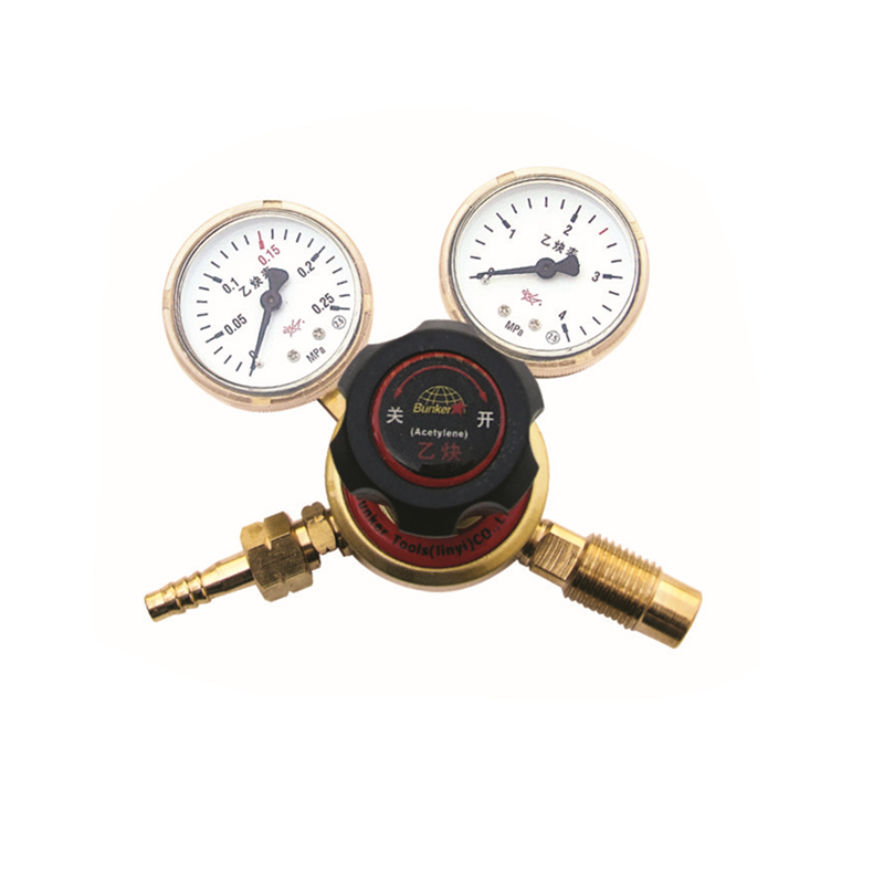Brass Acetylene Gas Regulator Sa Gauge ng Presyon