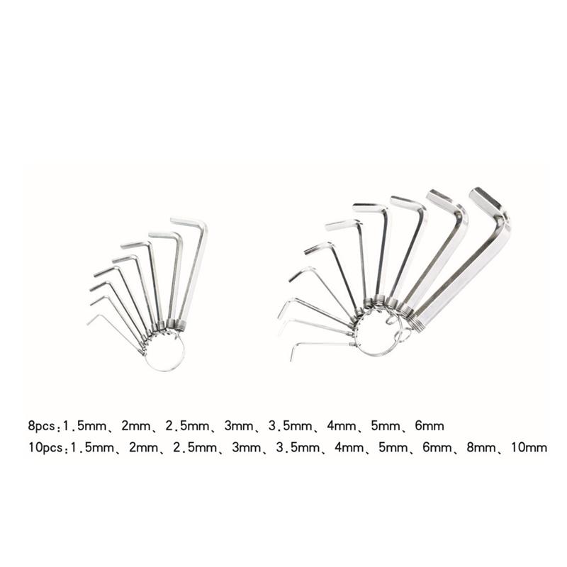 10 Keping L Shape Lengan Pendek Hex Key Set