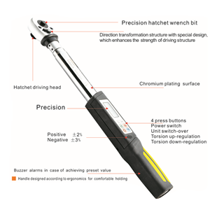 Digital torque wrench CR-V material