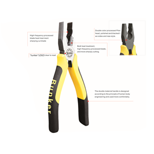 E type combination pliers cutting pliers with CR-V material