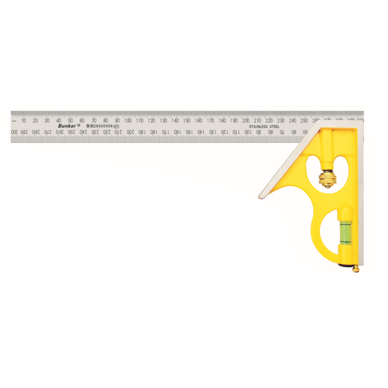 Combination Square Angle Ruler 45 90 Degree With Bubble Level