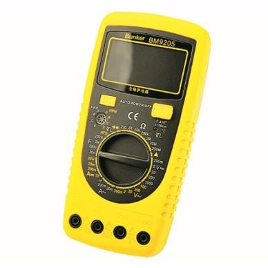 Hangfény riasztás automatikus multiméterrel, Ohm Voltmeter Ampermérővel