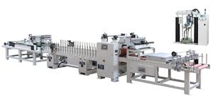 PU/PVAc Cold Glue Profile Wrapping Machine