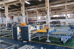 Transparent High glossy PET film PUR panel laminating machine line
