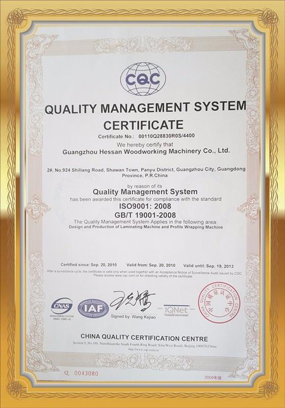 Giấy chứng nhận ISO9001