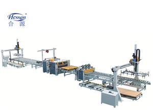 पूर्ण स्वचालित पुर गर्म पिघल गोंद लैमिनेटिंग मशीन लाइन