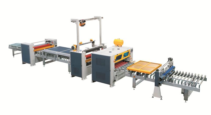 नई गर्म बिक्री पुर लैमिनेटिंग मशीन / उच्च चमकदार फाड़ना लाइन