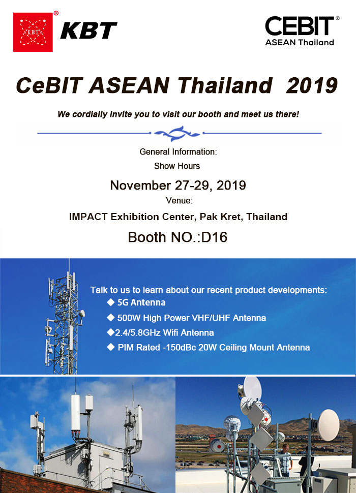 KBT va participa la 2019 Expoziție CeBIT ASEAN Thailanda