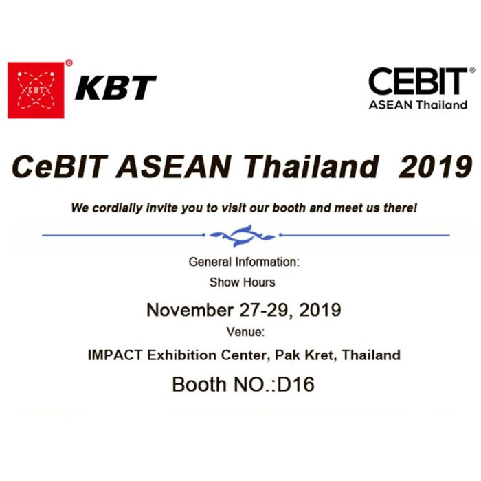 KBT will participate in 2019 CeBIT ASEAN Thailand Exhibition