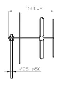 VPol 88-108MHz 7dBi Directional Yagi Antenna