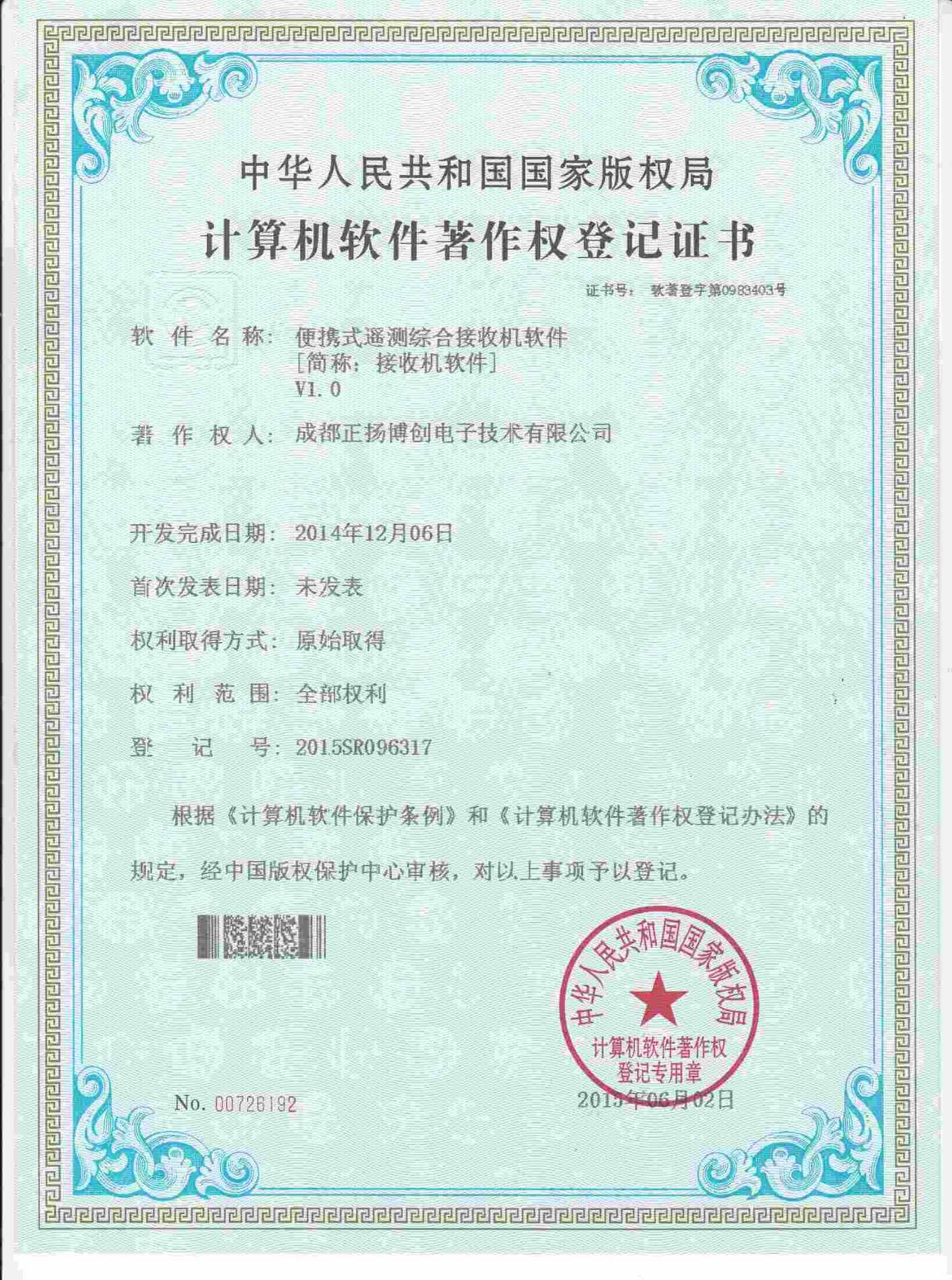 برنامج حقوق التأليف والنشر التسجيل الشهادة