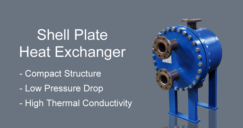 Shell heat exchanger plate