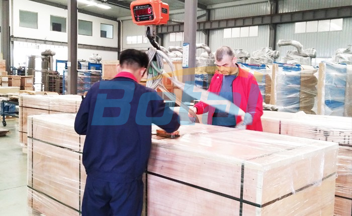 Customer inspects products package shipping