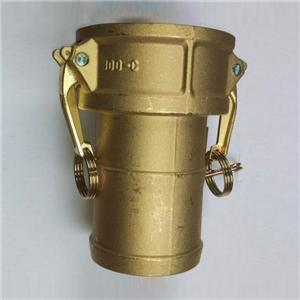 Female and male Type C brass camlock coupling