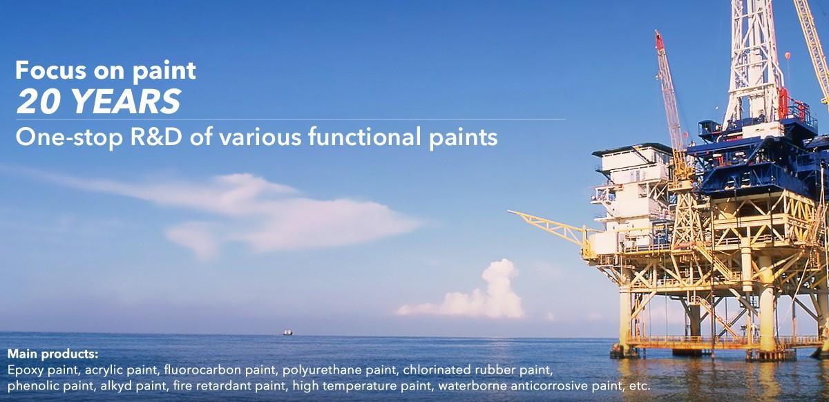 Estructura de acero de pintura