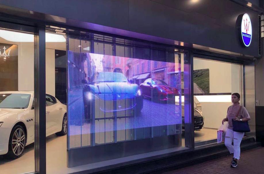 5500nits transparent led screen