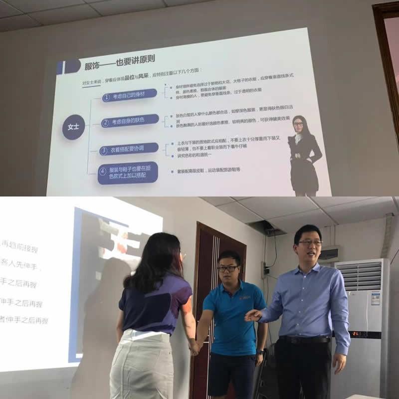Workplace business etiquette training