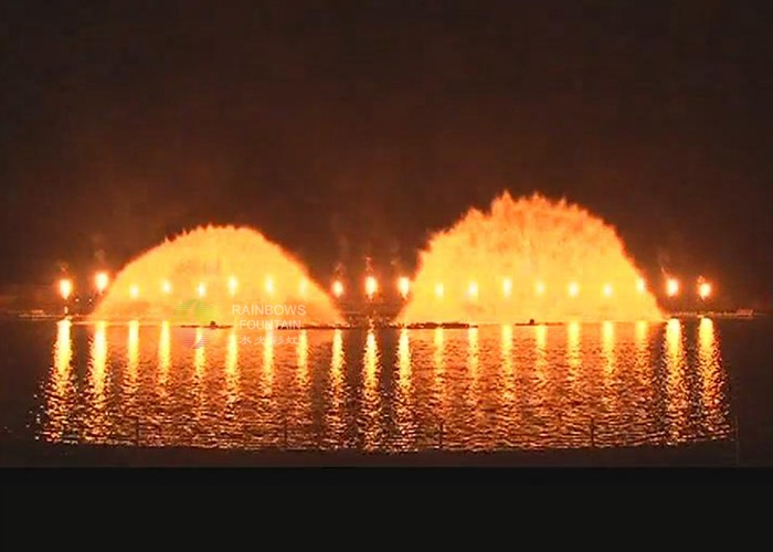 Outdoor Fire Water Fountain