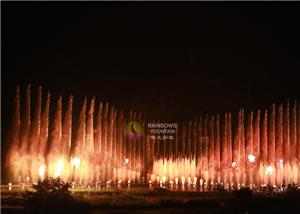 Outdoor Water Feature Night Fountain Of Fire