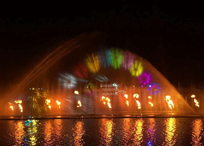Beautiful Outdoor Fountain With Fire
