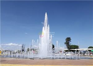 Square Lighted Floor Water Fountain