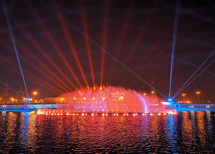 Biggest Outdoor Laser Round Water Fountain Project