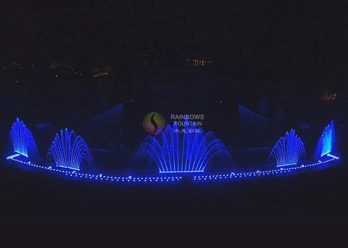 LED light music fountain construction