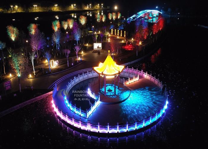 Красочное большое красивое световое шоу
